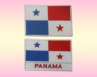 Panama Flag Small Iron On// Sew Cloth Patch Badge Appliqué Bandera Panamá Panaman
