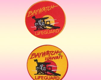 80f381511707 Baywatch Movie TV Serial Comic Video Game Embroidered Iron on Patch Sew on  Badge Baywatch Life Guard