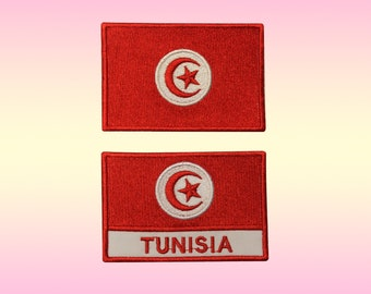 TUNISIA Tunisian Country Flag Embroidered PATCH Badge *NEW*