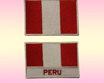Peru Peruvian Flag Embroidered Iron On Patch Lima soccer copa South America DIY