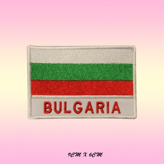 Bulgaria Flag Shield Embroidered Patch Badge