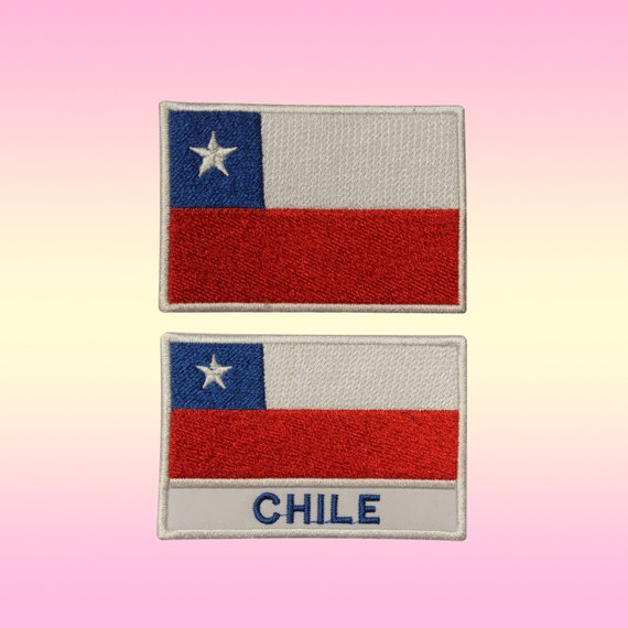 National Flag Chile Flag Embroidered Patch Sew or Iron on Badage Applique DIY