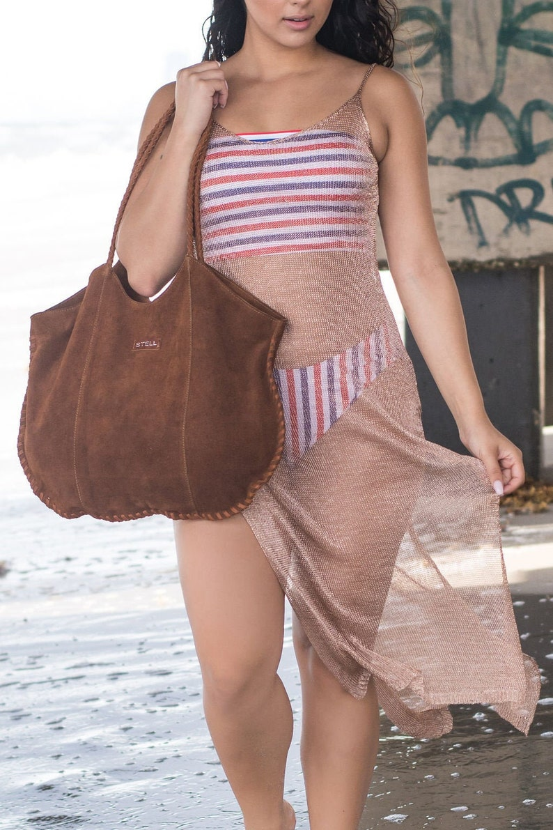 Leather Suede Tote Stell image 0