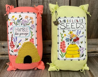 Wildflower and Bee Seed Sack