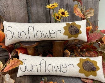 Pattern and Kit: Sunflower Skinny Pillow