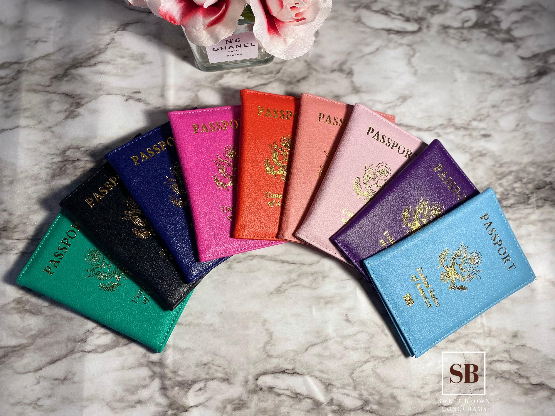 Personalized Passport Holder Rose with Black Corporate Passport Holder Your Choice of ImageWords Custom Passport Holder Laser Engraved