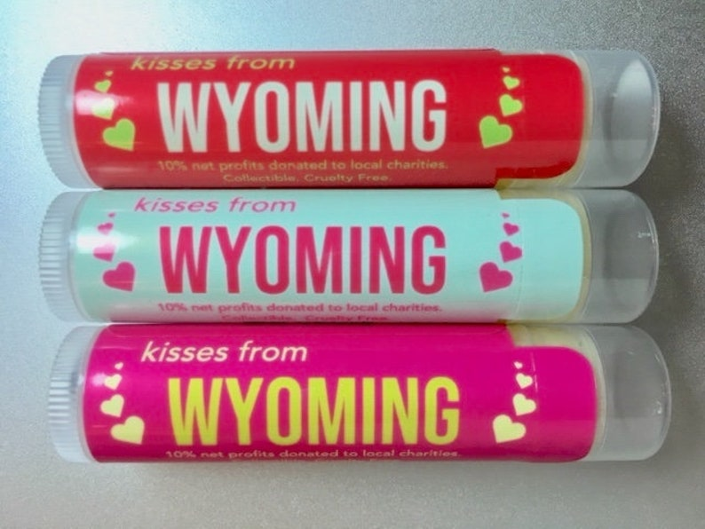 Vanilla and Mint Strawberry Trio of Kisses From Wyoming