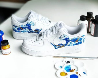 93f93f4b1c0 Custom sneakers / The Great Wave of Kanagawa /Sneakers /AF1