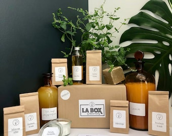 """The DIY BOX """"minimalist"""" natural maintenance of the house: linen - crockery - multi-purpose I manufacture my natural cleaning products"""