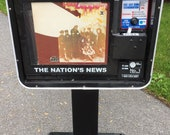 USA Today Vintage Logos Vinyl Record Stand Newspaper Box