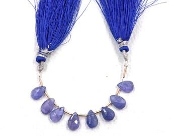 8 Pieces Tanzanite gemstone beads Pear shape Size 6X10 MM beads Natural tanzanite beads faceted beads natural tanzanite beads for jewelry