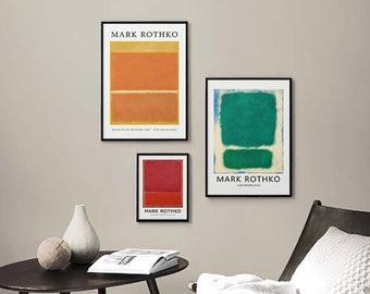 Minimalist Abstract Art Poster Decor Rothko Modern Gallery Wall Art Large Prints set