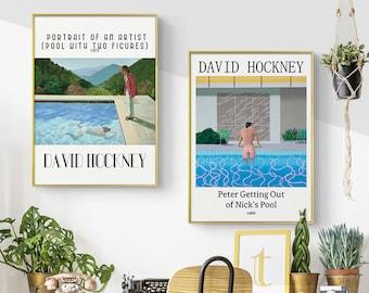 Hockney Gift Hockney Painting Hockney Print David Hockney Rain On The Pool Los Angeles Hockney Art Hockney Poster British Painter