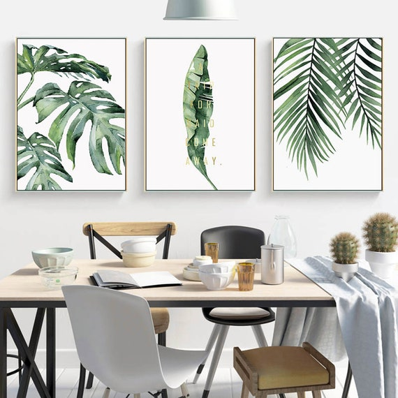 Tropical Palm Leaves Wall Art Palm Leaf Wall Art Canvas Print Etsy Tropical stencil patterns at great prices! etsy