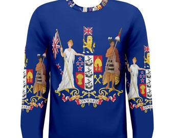 bc6bcf3ea9 New Zealand coat of arms flag Sublimated Men's Sport Full print Men's Long  Sleeve T-shirt Size S-3XL Free Shipping