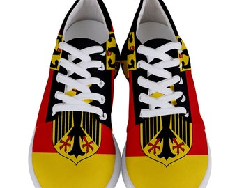 55435f44f5584 Best New Germany German Flag Men's Lightweight Sports Athletic Running  Shoes Free Shipping