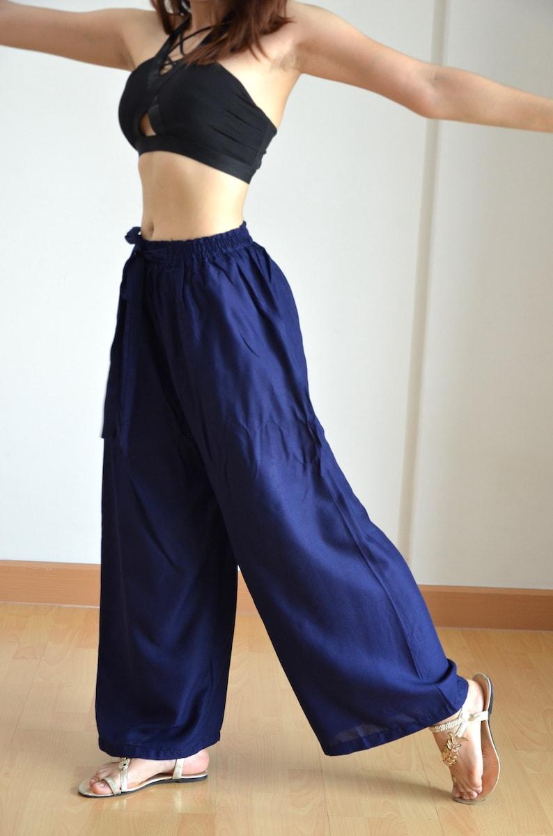 Navy Blue Unisex Pants Harem Pants Maxi Pants Baggy Pants Gypsy Pants Boho Pants Trouser PN-01-HP-03