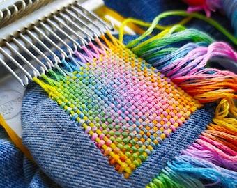 Darning, Speedweve loom, Small loom (Speedweve type)