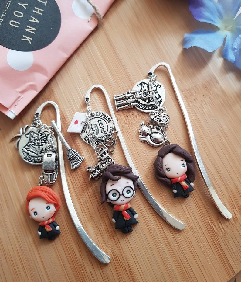 wizard bookmarks clay fimo bookmark bookmarker cute kawaii image 0