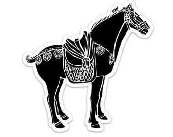 BellavanceInk: Chinese Horse Statue Vinyl Sticker Illustration