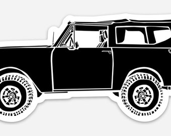 BellavanceInk: Vintage International Scout II Vinyl Sticker Hand Drawn Illustration
