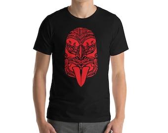 BellavanceInk: Maori Face Mask Design  Short Sleeve T-Shirt