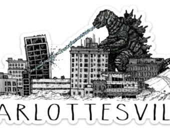 BellavanceInk: Giant Monster Attacking The Landmark Hotel In Charlottesville Vinyl Sticker
