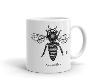 BellavanceInk: Apis Mellifera Honeybee Beekeeping Coffee Mug