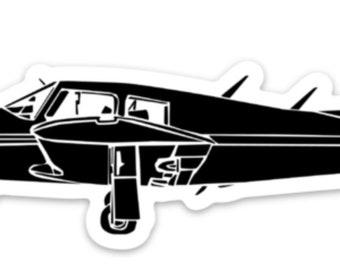 BellavanceInk: Vintage Piper Arrow Recreational Airplane Vinyl Sticker Illustration