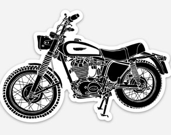 BellavanceInk: Vintage Italian Scrambler Motorcycle Vinyl Sticker Illustration