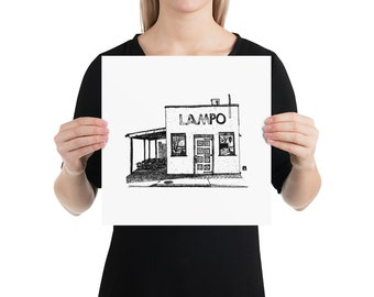 BellavanceInk: Local Charlottesville Restaurant Virginia Lampo Limited Print