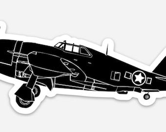 BellavanceInk: P47 Thunderbolt Fighter Plane Vinyl Sticker Illustration