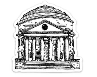 BellavanceInk: Thomas Jefferson's the Rotunda in Charlottesville Virginia Pen and Ink Illustration