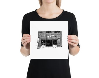 BellavanceInk: Pen & Ink Drawing Charlottesville Area Attractions Milli Coffee Roasters Limited Prints