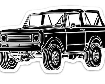 Vintage All Terrain Vehicle FJ40 Vinyl Sticker Illustration BellavanceInk