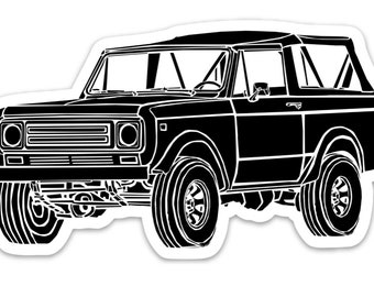 BellavanceInk: Vintage International Scout Vinyl Sticker Hand Drawn Illustration