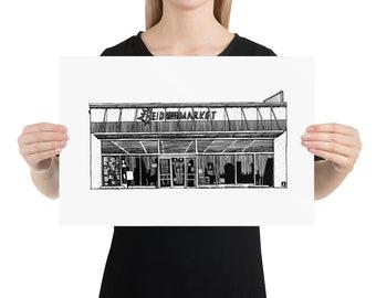 BellavanceInk: Local Charlottesville Landmarks Reid Grocery Store On Preston Avenue Limited Print