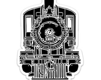 BellavanceInk: Vintage Train Engine Vinyl Sticker Illustration