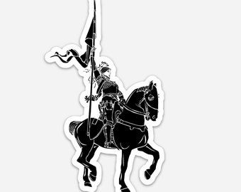 BellavanceInk: Joan Of Arc Vinyl Sticker Illustration