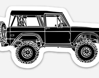 BellavanceInk: Vintage Truck Vinyl Sticker Hand Drawn Illustration