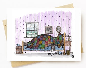 BellavanceInk: Get Well Card With Rhino With A Cold Or The Flu 5 x 7 Inches