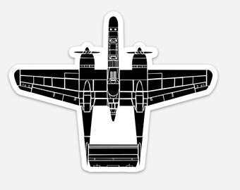 BellavanceInk: P-61 Black Widow World War Two Airplane Vinyl Sticker Illustration