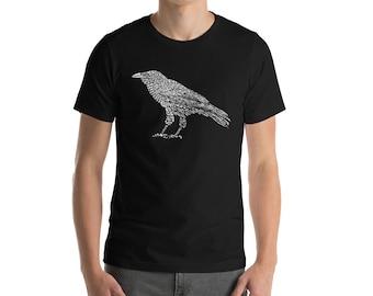 BellavanceInk: Standing Raven Design On Short Sleeve T-Shirt
