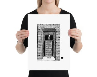 BellavanceInk: Limited Print of Common House Social Club In Charlottesville, Virginia Pen & Ink Drawing