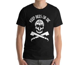 BellavanceInk: Keep Bees Or Die Beekeeping Short Sleeve T-Shirt