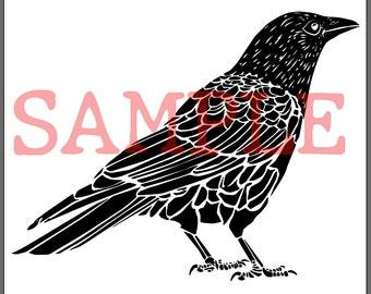 BellavanceInk: Crow/Raven Digital Vector And Raster Image