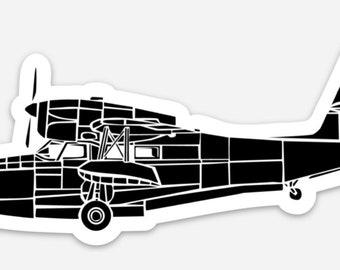 BellavanceInk: Grumman Goose Sea Plane Vinyl Sticker Illustration