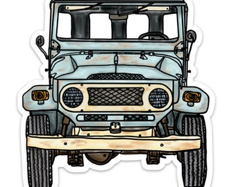 BellavanceInk: Vintage All Terrain Vehicle FJ40 Vinyl Sticker Illustration