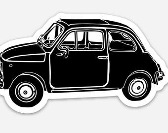 BellavanceInk: Vintage Italian Compact Car Vinyl Sticker Hand Drawn Illustration