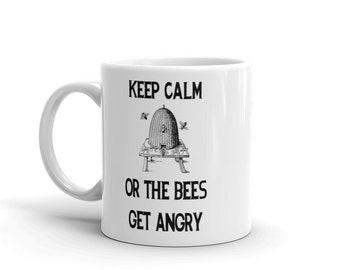 BellavanceInk: Keep Calm Or The Bees Get Angry Beekeeping Coffee Mug